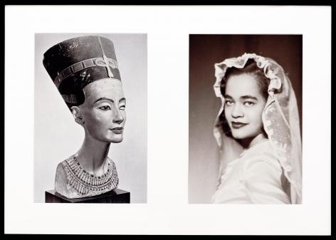 Miscegenated Family Album (Sisters I), L: Nefernefruaten Nefertiti; R: Devonia Evangeline O'Grady, 1980/1994, Cibachrome print, 26h x 37w in (66.04h x 93.98w cm)