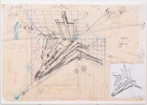 Working drawing for Desaparência (Estúdio) 4, 1999