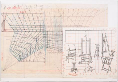 Working drawing for Desaparência (Estúdio) 3, 1999