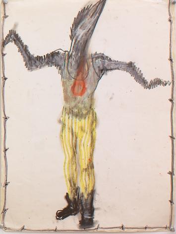 Gowestjungermann II (Berlin Series), 1984, Oil pastel and ink on paper