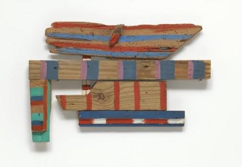 Wood-Wings (1973) Acrylic on wood