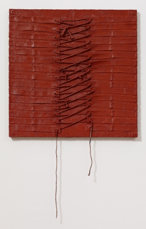 Lace I, 2012, Oil and mixed media on canvas