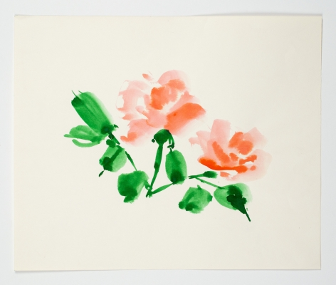 "Untitled, from the ""Florals"" series [009], n.d., Watercolor On Paper"