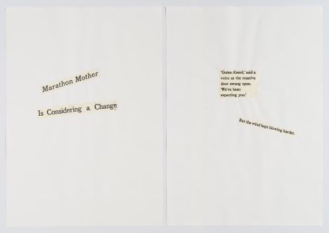 Cutting Out CONYT 25, 1977/2017, Letterpress printing on Japanese paper, cut-out, collage on laid paper