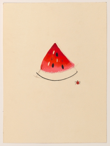 Untitled, from the Fruitsseries, n.d., Watercolor and ink on paper
