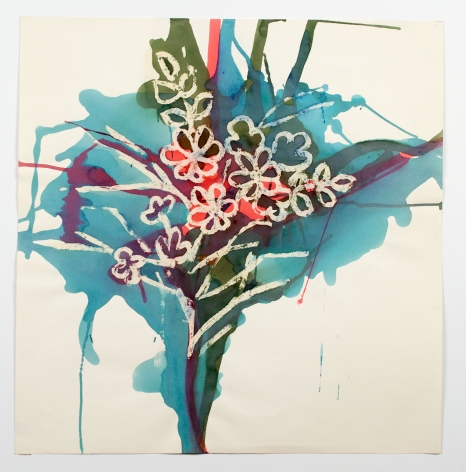 Untitled, from the Florals series, c. 1979, Watercolor on paper