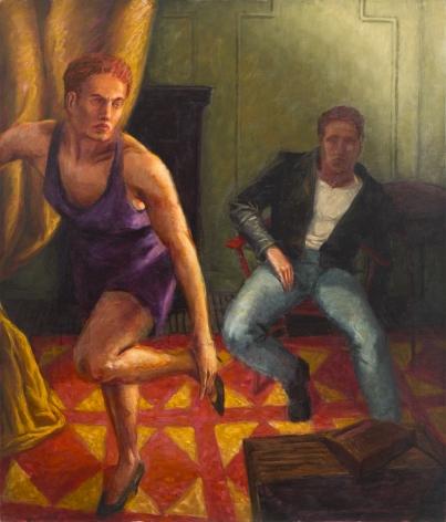 Purple Velvet Dress, 1989, Oil On Canvas