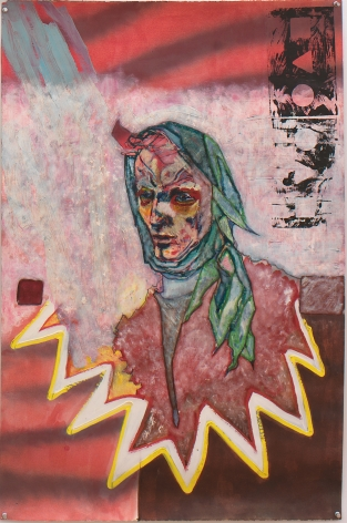 Self Portrait as Punch, 1981, Mixed Media On Paper