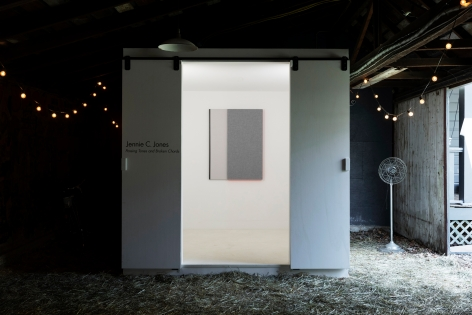 Jennie C. Jones: Passing Tones and Broken Chords, installation view, Alexander Gray Associates, Germantown, Alder & Co. Barn (2020)