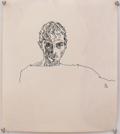Untitled I, 1993, Graphite on paper