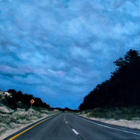 Divided Route 6 Provincetown, 2021, Oil on canvas