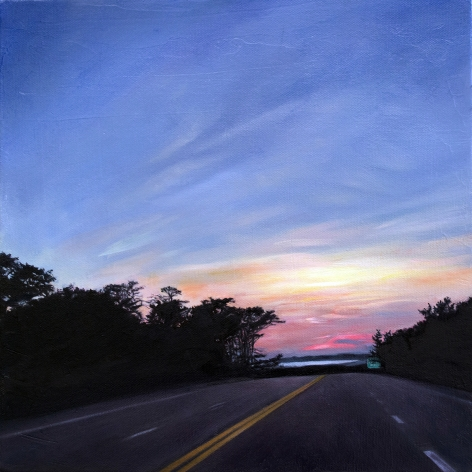 Route 6 Late September, 2018, Oil on canvas