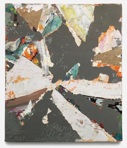 Abstract Construct 11, 2020,Reclaimed paint and paintings on panel