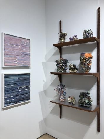 Mark Zimmermann (left) and Lauren Skelly Bailey (right) installation