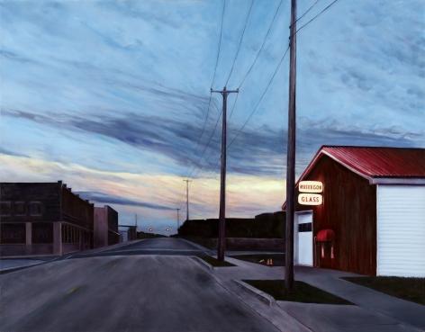 Muskegon Glass, MI, 2019, Oil on canvas