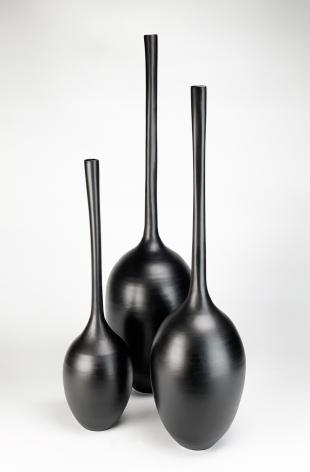 Gourd Vessels (Trio), 2019, ceramic, glaze