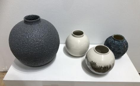 Michael Boroniec ceramic Moon Jar installation