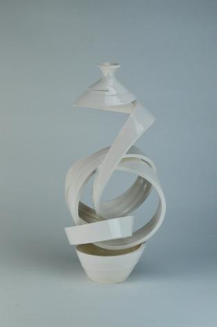 Spatial Spiral: Knot VIII, Ceramic, glaze