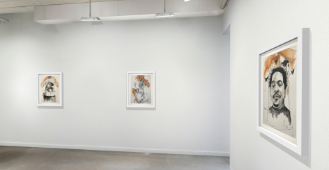 "Installation view: ""REAL NEGUS DONT DIE"" by Dr. Fahamu Pecou, June 19 - July 31, 2020"