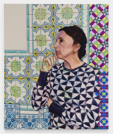 Saudade da Margarida, 2019, Oil, gouache, colored pencil and acrylic ink on canvas
