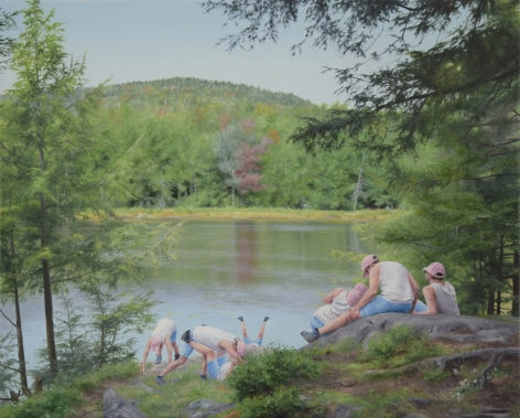 Artwork by Cobi Moules titled Lapland Pond at Black Mountain, oil on canvas, 8 x 10 inches