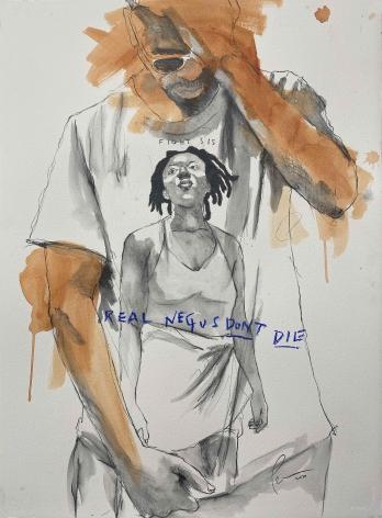 Drawing by Fahamu Pecou at Lyons Wier Gallery New York