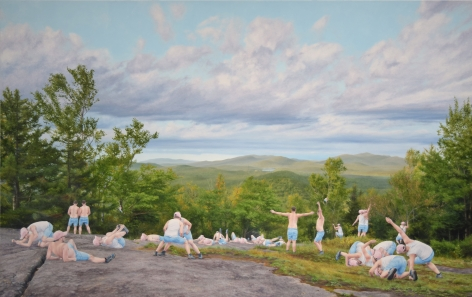 Artwork by Cobi Moules titled Adirondacks, oil on canvas, 24 x 38 inches