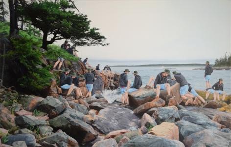 Cobi Moules painting Untitled (Ship Harbor, Maine)