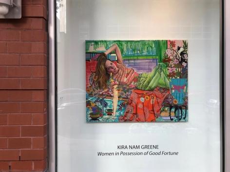 Installation view of Karen Greene Nam painting