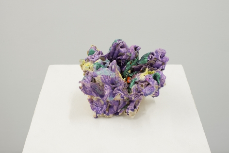 ceramic by Lauren Skelly Bailey titled Phasing Out, 2021, Glazed stoneware, slip, & pigment, 5 × 6.5 × 4.5 in