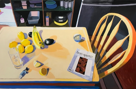 My Kitchen Table in the Morning, 2018, Oil on panel