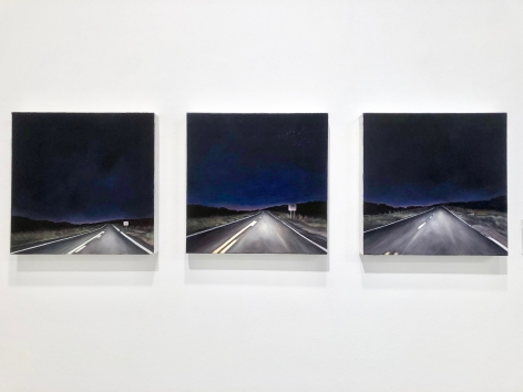 Race Point No.1, 2, 3 (triptych), 2018, Oil on canvas