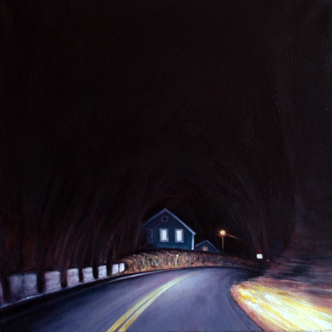 Long Pond Road April, 2021, Oil on canvas