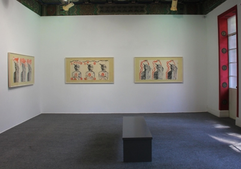 , FRANCESCO CLEMENTE The Chinese Shadows, 2014 Installation view