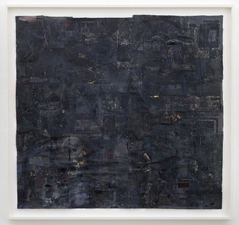 SIMON EVANS  Untitled (Black Picture), 2014