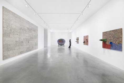 Installation views, Elias Sime, TIGHTROPE: ECHO!?, James Cohan, 48 Walker St, March 19 - April 24, 2021