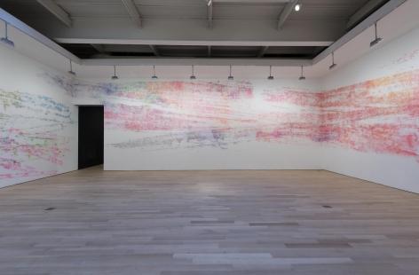 , INGRID CALAMETracks,2013 Installation view