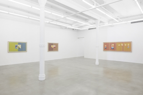 Installation view, Jordan Nassar: I Cut The Sky In Two, 291 Grand St, October 23 - November 21, 2020