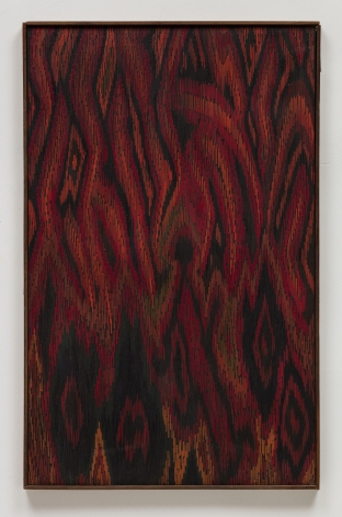 , LEE MULLICAN, Meditation on a Landscape, 1963 , Oil on canvas, 36 x 24 in.