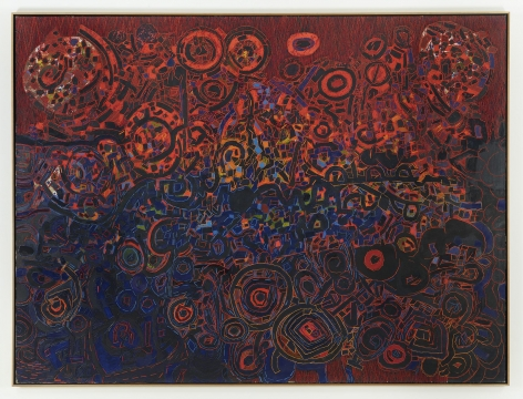 , LEE MULLICAN, Untitled, 1965, Oil on canvas, 75 x 100 in.