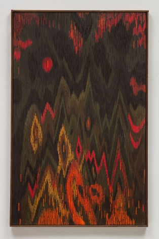 , LEE MULLICAN, The Diamond Mountains, 1963, Oil on canvas, 36 x 24 in.