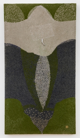 , ELIAS SIME Ants & Ceramicists 7, 2009-14 Yarn stitch on canvas 60 3/4 x 33 3/8 x 2 1/4 in. (154 x 85 x 6 cm)
