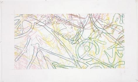 """INGRID CALAME英格丽•卡兰 #264 Drawing (Tracings from the Indianapolis Motor Speedway and the L.A. River), 绘ç""""»264号(从印第安纳波利斯高速公路å'Œæ´›æ‰çŸ¶æ²³å¾—到描图),2007"""