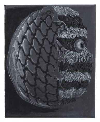 , TRENTON DOYLE HANCOCK, Head Tread,2015, acrylic on canvas, 10 x 8 in., 25.4 x 20.3 cm