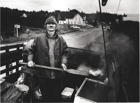 BILL OWENS I'm one of the first freak fishermen on the West Coast. It's a life-style rather than a living. I want to conserve natural energy by doing more with less, so I sell the crabs I catch directly to people., ca.1977 (printed 2008)