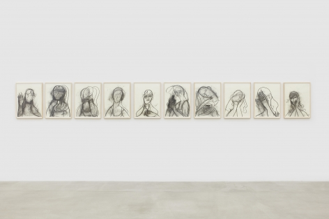 Installation view, Grace Weaver: STEPS, 291 Grand St, July 15 - September 13, 2020