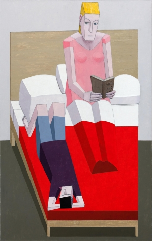 MERNET LARSEN Reading in Bed