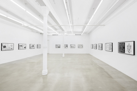 Installation view, Trenton Doyle Hancock:Something American, 291 Grand St, September 17 - October 17, 2020
