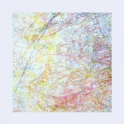 INGRID CALAME, # 182 Working Drawing, 2005, color pencil on trace Mylar, 88 x 88 inches