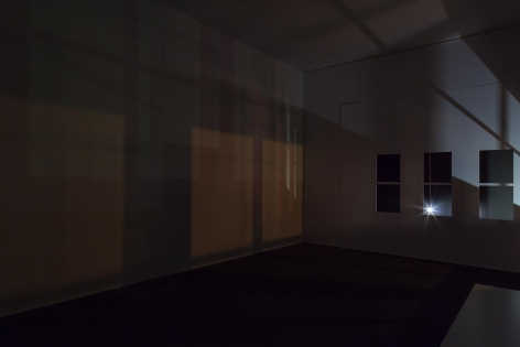, SPENCER FINCH Study for Light in an Empty Room (Studio at Night), 2015 Mixed media installation Dimensions variable
